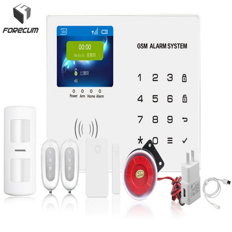FORECUM Home anti burglar security GSM Alarm System IOS/Android App control Autodial Home Security alarm system burglar alarm