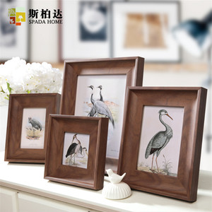 Wood Photo Frame Morden Photo Frames for Picture Table Decor Set Frames Cadre Photo Moderne 4/6/7/10 Inch Porta Retrato