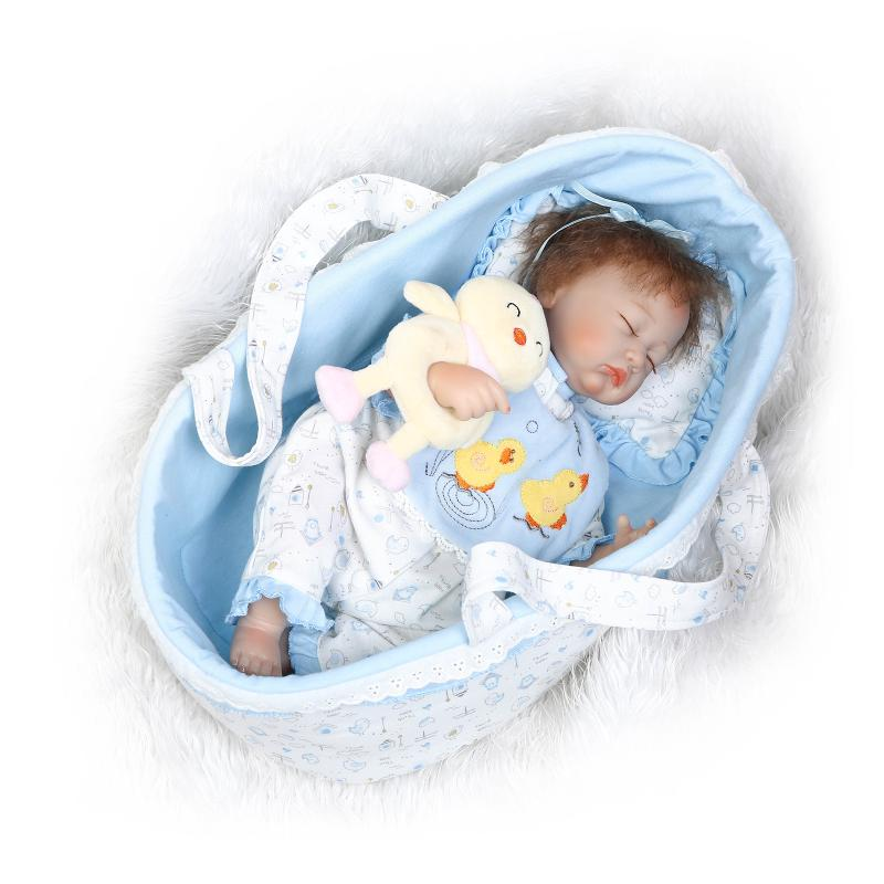 New 40cm slicone reborn baby doll toy play house bedtime toys for kid girls brinquedos soft body newborn babies collectable doll hot sale silicone reborn babies dolls gift for child kid classic play house toy girl brinquedos baby reborn doll toys