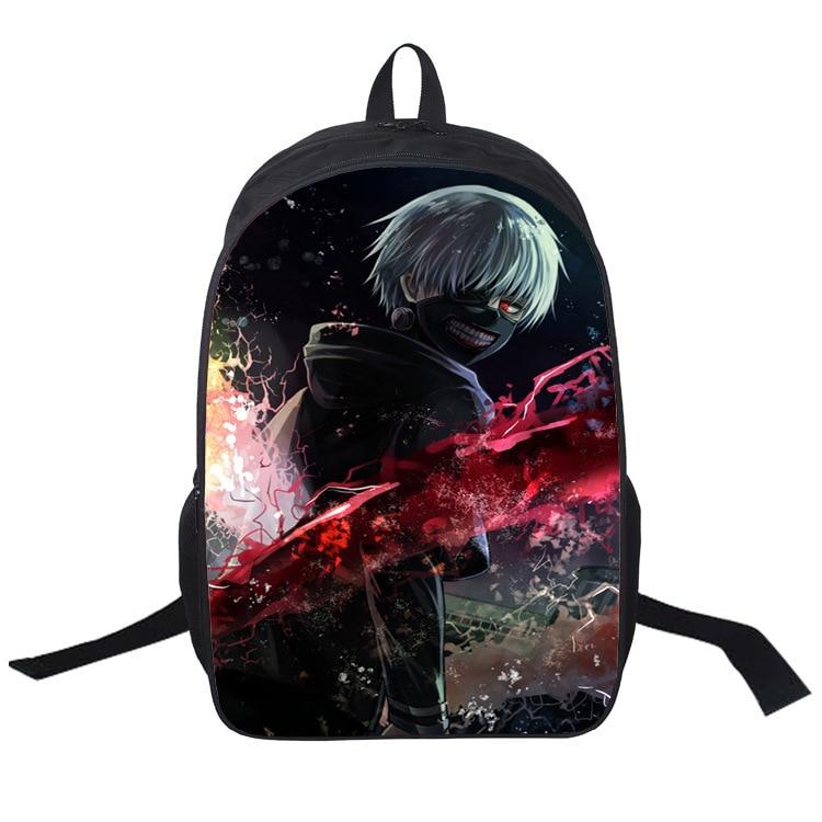 Cartoon anime Fate Tokyo Ghoul Gravity Falls Colorful Backpack Teenage Girls Boy Children School Bags Women Laptop bag 11 style