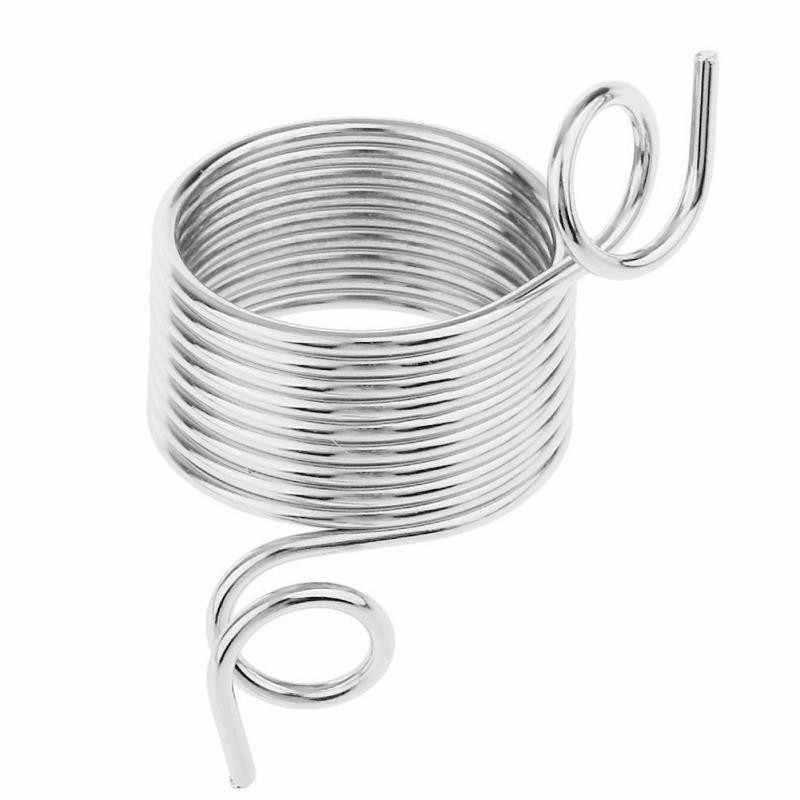 2 размера 17-19 мм пряжа Пружинные направляющие из нержавеющей стали иглы кольцо-наперсток Тип вязальные инструменты на палец наперсток Швейные аксессуары
