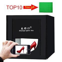 50*50*50cm Photo Studio kit LED soft box Shooting Light Tent Tabletop Shooting light box AC Adapter for Jewelry Toys Shoting