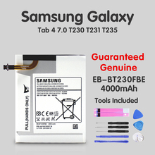 Original Samsung Tablet For Samsung Galaxy Tab 4 7.0 7.0 Replacement Battery EB-BT230FBE T230 T231 T235 SM-T230 SM-T231 SM-T235 xskemp tablet screen protector film tablet for samsung galaxy tab 4 7 0 t230 t231 t235 9h real tempered glass protective guard