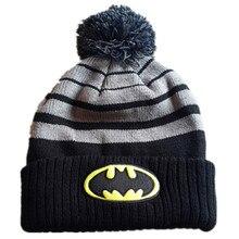 36e19800e54 2018 Fashion Original Brand Winter Hero Bats Man Anime Beanies Caps Knitted  Hat For Women Men Boy Casual Warm Wool Knit Pom Hats