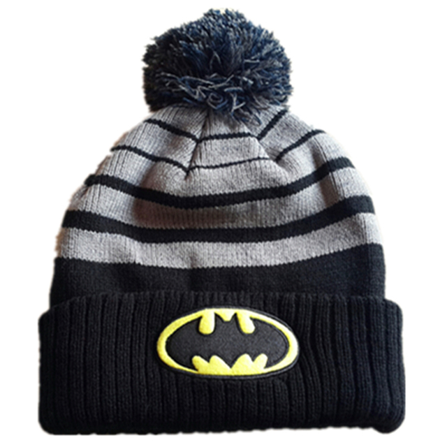 2018 Fashion Original Brand Winter Hero Bats Man Anime Beanies Caps