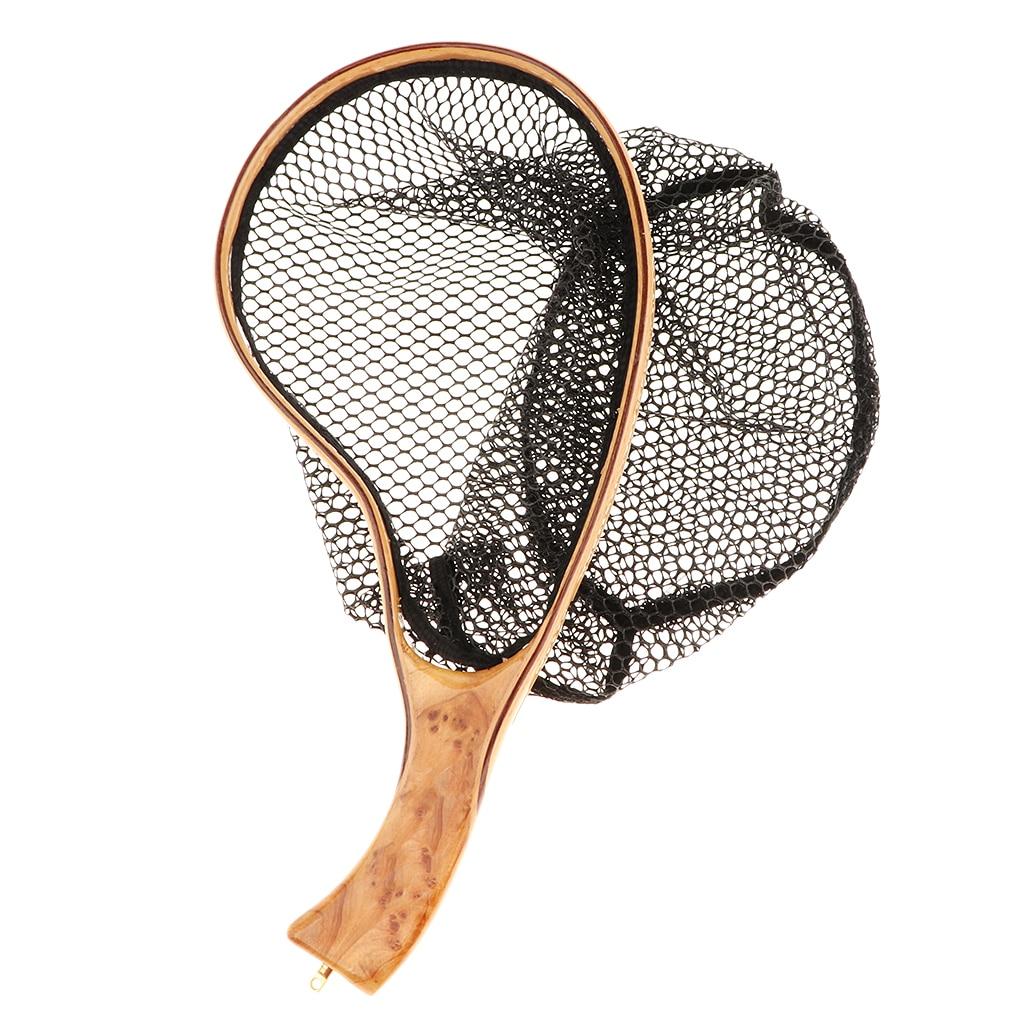 rede de pesca 35 20cm pesca com mosca rede de pouso malha truta captura ferramentas liberacao