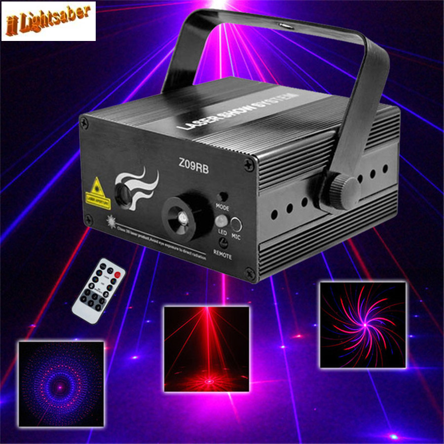 Remote RB 9 Patterns Laser Lights Red Blue Stage Lighting Effect Disco Party Wedding Christmas DJ Equipment Show Light mon hot sale projector dj disco light mp3 remote stage party christmas laser lighting show