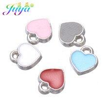 Juya – breloques en forme de cœur en forme de petite étoile, pour la fabrication de bijoux faits à la main, Bracelets et boucles d'oreilles, couleur or et argent, vente en gros