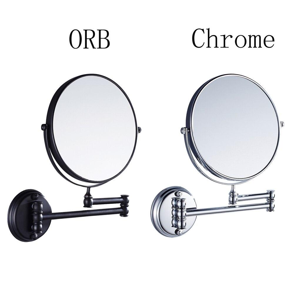 Leyden Chrome ORB Brass Bath Mirrors Black Silver 8 Inch 20cm Bathroom Mirror Wall Mounting Cosmetic Mirror Bathroom Accessories mirror silver chrome vespa open face