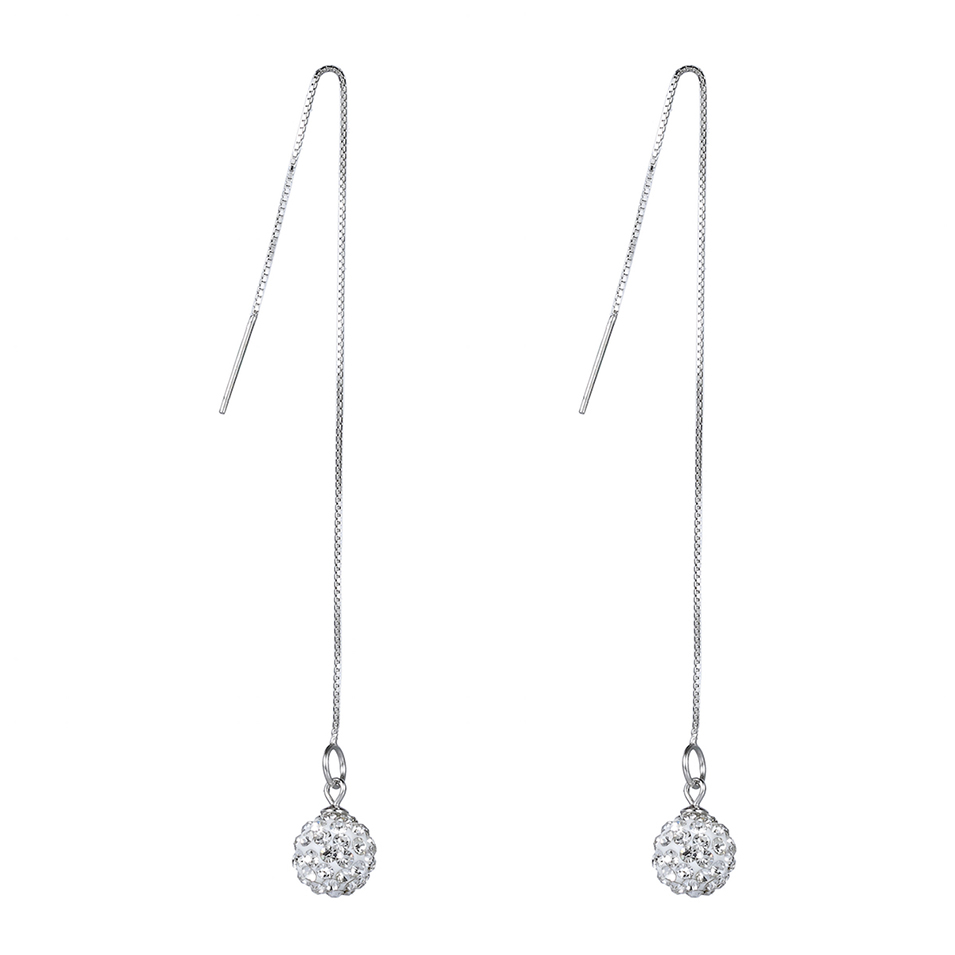 Eulonvan Explosion models 925 sterling silver White Cubic Zirconia Earrings S-E90 Favourite Best Sellers Time limited discount