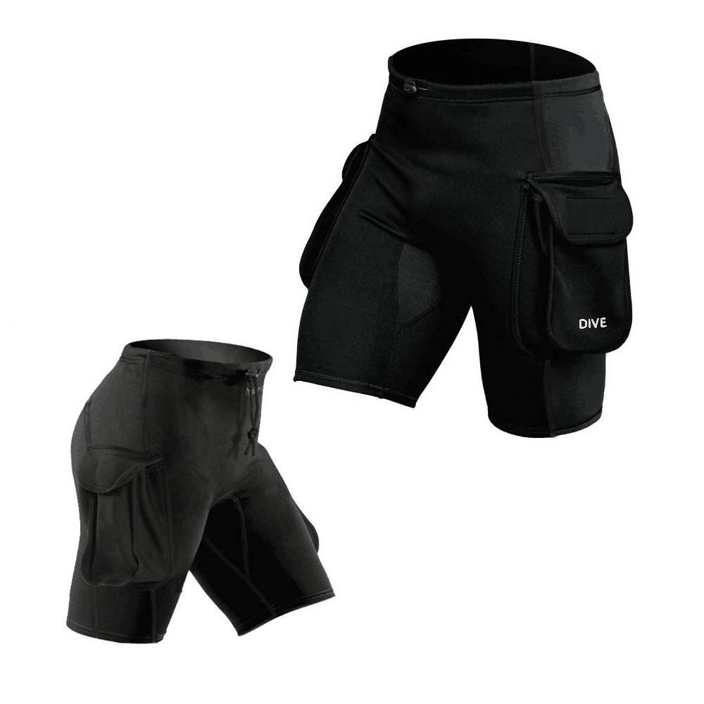WYOTURN Submersible Pocket Pants Submersible Leg Bag Bags Bandage Pants Submersible Pants Thickening Diving Equipment Shorts diving equipment