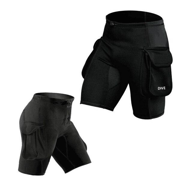 f11a8369abb4ce WYOTURN Tauch Tasche Hosen Tauch Bein Tasche Taschen Verband Hosen Tauch  Hosen Verdickung Tauchen Ausrüstung Shorts