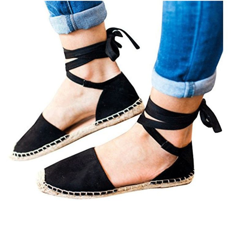 Ankle Shoes Espadrille Qualità Donna Nero kaki Stephoes Flats Esclusivo Dropshipping 2019 verde rosa Mocassini Strap Platform Donna Straw Fisherman wFqtHP