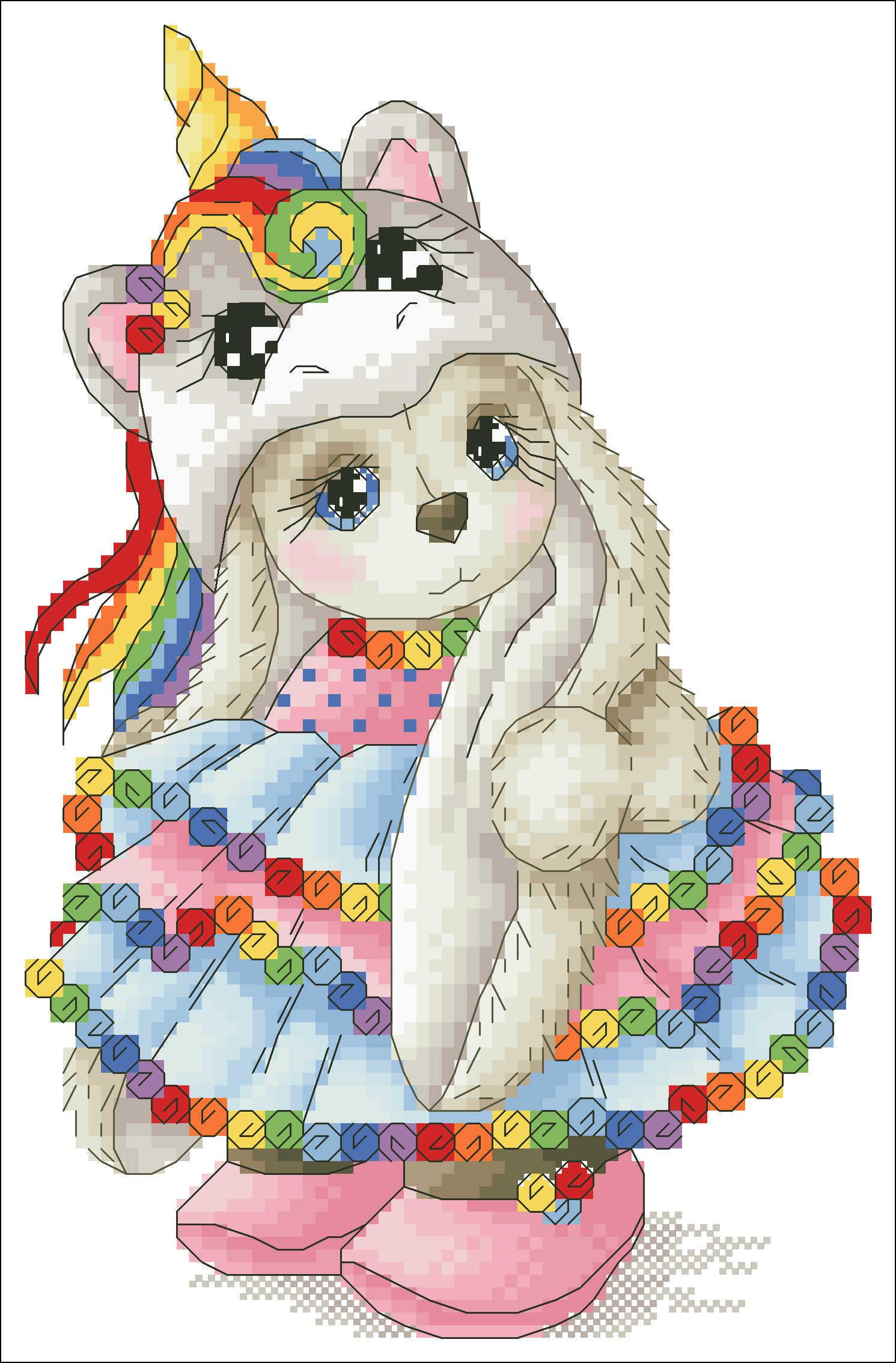Милая шапка Единорог для девочек Вышивка крестиком вышивка крестом пакет мультфильм животное 18ct 14ct 11ct ткань хлопок шелк вышивка DIY рукоделие ручной работы