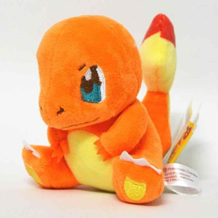 Dos desenhos animados plush toys 12-18 cm Snorlax Charmander Mewtwo Dragonite cute suave stuffed dolls para presente de Natal para Crianças