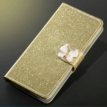 ZOKTEEC Case For Xiaomi Mi 9 SE Book Flip Women Girl Shiny Skin Leather Stand Wallet Cover With butterfly