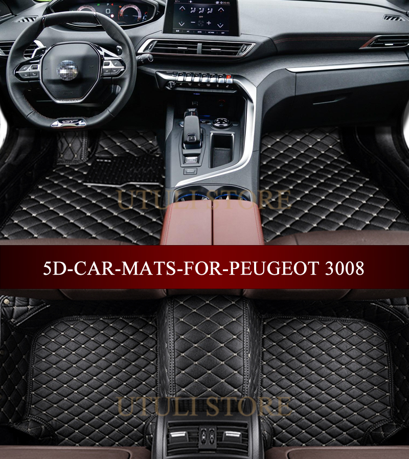 Suv Floor Mats >> Us 85 32 46 Off Leather Car Floor Mats For Peugeot 3008 4008 5008 Suv Custom Fit Car Styling All Weather Carpet Floor Liners Foot Mats In Floor Mats