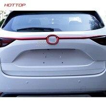 Topunion 2 Farben Hinten Stamm Heckklappe Hatch Zurück Tür Streifen Dekoration Rahmen Abdeckung Trim 2 Pcs ABS Für Mazda CX-5 CX5 2017 2018