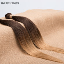 BlONDE UNICORN Ombre Brazilian Hair 2 bundles Brazilian Straight Hair  T4 27 30 Ombre Brazilian Virgin Hair Straight Cheap Price