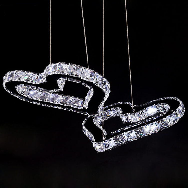 Creative LED love heart pendant lights soul for living room dining room restaurant crystal pendant lamp Children toy modern ZAG rectangular dining room pendant lights european style led crystal pendant lights modern restaurant lamp bar cafe creative lamps