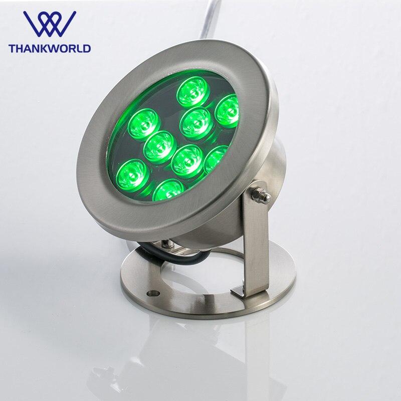 VW LED Underwater Searchlight 304 Stainless steel 3W,6W,9W,12W,15W,18W,24W Swimming pool light DC12/24V pond light ip68 lighting