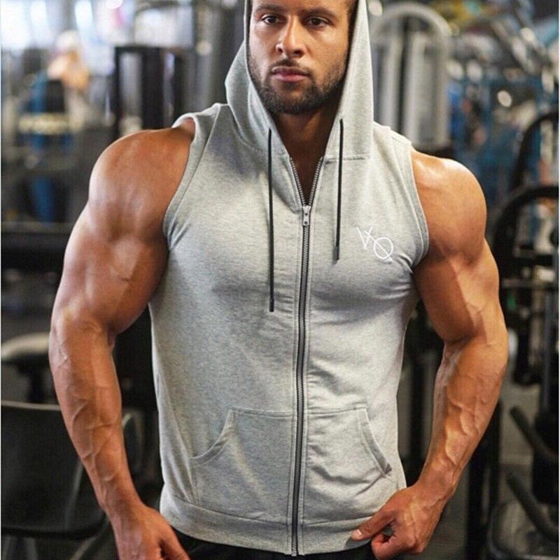 New Summer Bodybuilding Fitness Men   Tank     Top   Mens Hoodie Sweatshirts Sleeveless Tees Shirt Gyms Golds Vest Undershirt   Tank     Tops