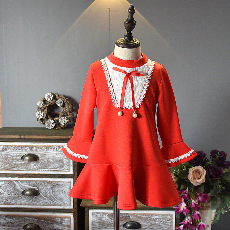 School Kids Dresses Girls Preppy Style Shirts Dress Long Sleeve Girls Princess Party Dresses Spring Students Clothes 2-8Y CC650 girls princess party dresses 4 long sleeve striped kids dresses for girls 6 preppy style bottoming dress 8 ball gowns 10 12years