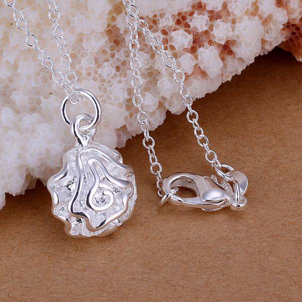 Free Shipping 925 jewelry silver plated Jewelry Pendant Fine Fashion Cute Small Rose Necklace Pendants Top Quality CP168