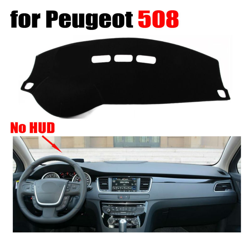 Car dashboard covers mat for Peugeot 508 Low configuration all the years Left hand drive dashmat pad dash cover auto accessories