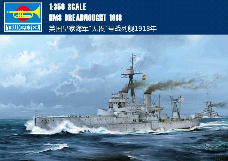 Trumpet 05330 1:350 British fearless battleship 1918 Assembly model trumpeter ships model 05316 german pocket battleship graf spey