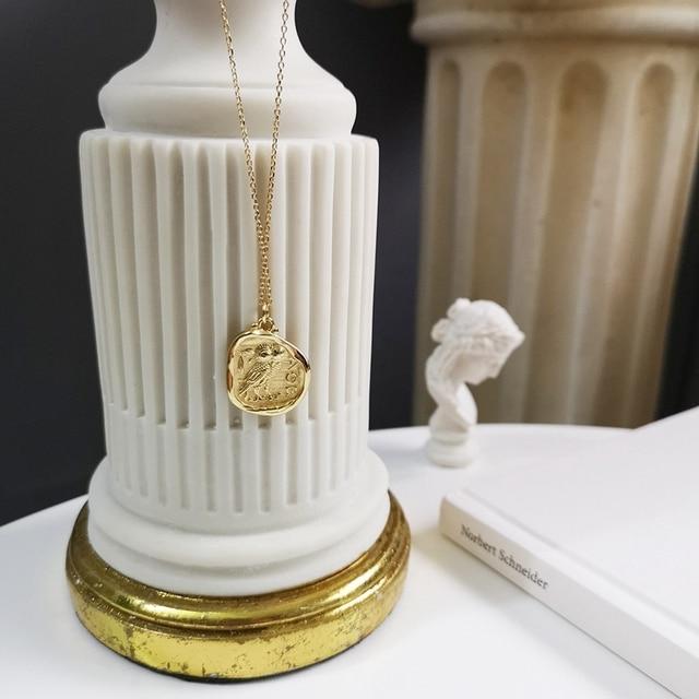 925 sterling silber kostenloser eule gold halskette einfache mode design persönlichkeit eule anhänger halskette für frauen 2018 edlen schmuck