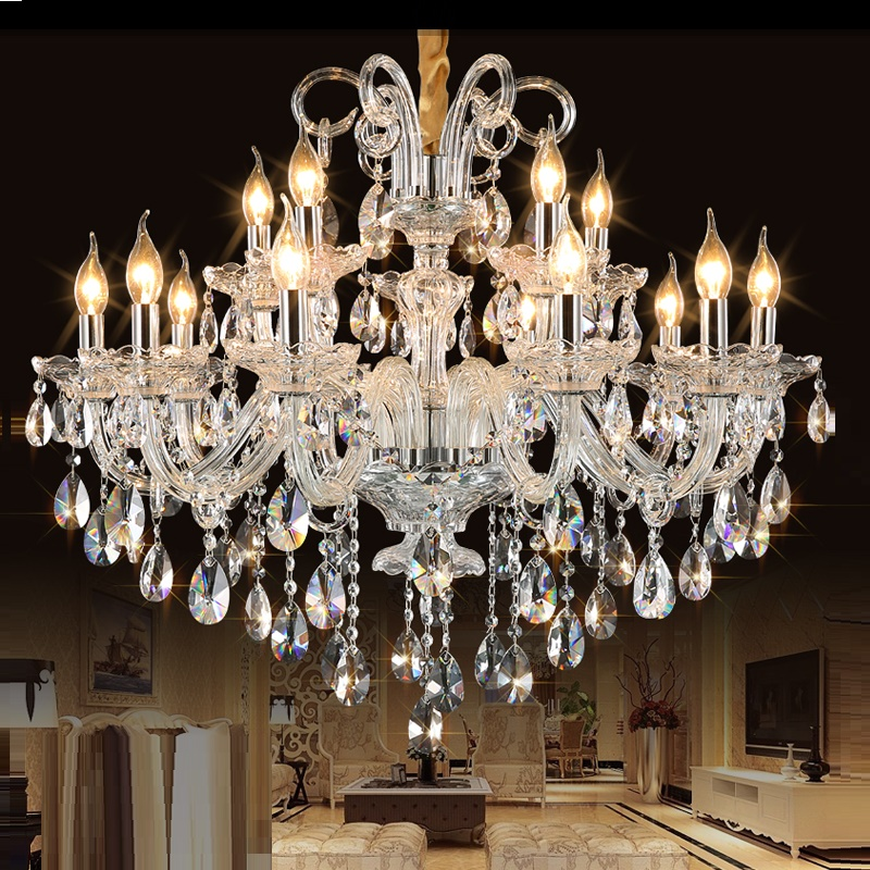 Crystal Chandelier Lights Lamp For Living Room Cristal Lustre Chandeliers Lighting Pendant Hanging Ceiling Fixtures Modern LED