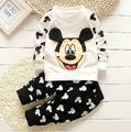 Cute Cartoon Baby boys Clothing Set 100%cotton Kids Casual sports set Infant pants suit Tracksuit 0-3age