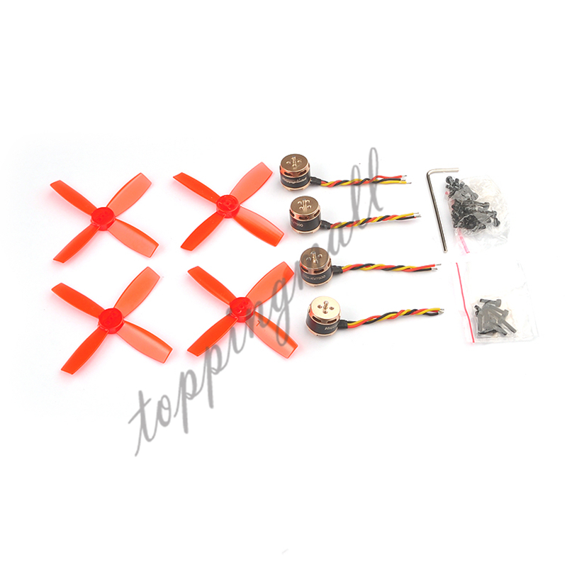 4pcs SE1104 KV4000 KV6000 KV7500 Brushless Motor with 2pairs 2035 2045 Propellers for FPV Racing Drone RC Quadcopter Multirotor lantian rc 1104 kv7500 brushless motor micro motor for fpv indoor drone spare parts accessories