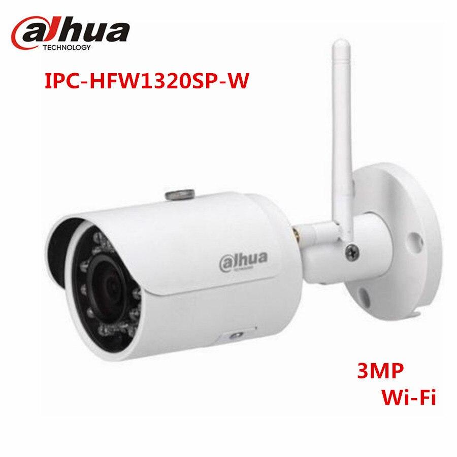 DaHua Wireless 3MP POE Camera IPC-HFW1320S-W 30M IR Waterproof HD Onvif WDR Night version Surveillance Outdoor IP Camera dahua 3mp ir waterproof