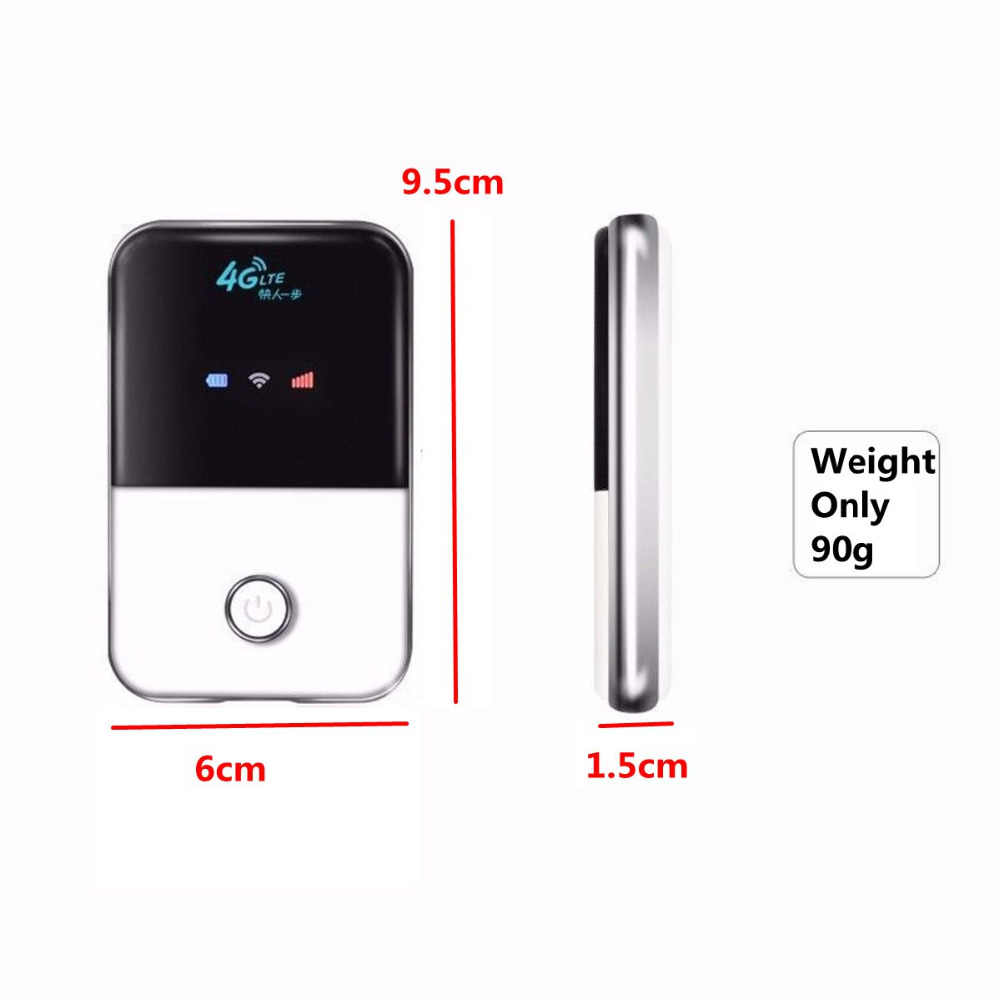 4G Lte Pocket Wifi נתב רכב נייד Wifi נקודה חמה אלחוטי בפס רחב Mifi סמארטפון מודם Extender משחזר עם כרטיס ה-sim חריץ