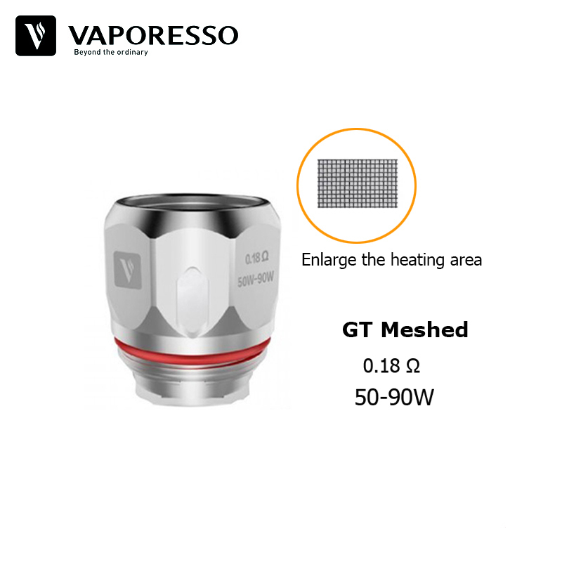 3pcs/pack Original Vaporesso GT Meshed GT CCELL2 Coil E Cig Head Vape Cores for Cascade One(Plus), Polar and Armour Pro Kit