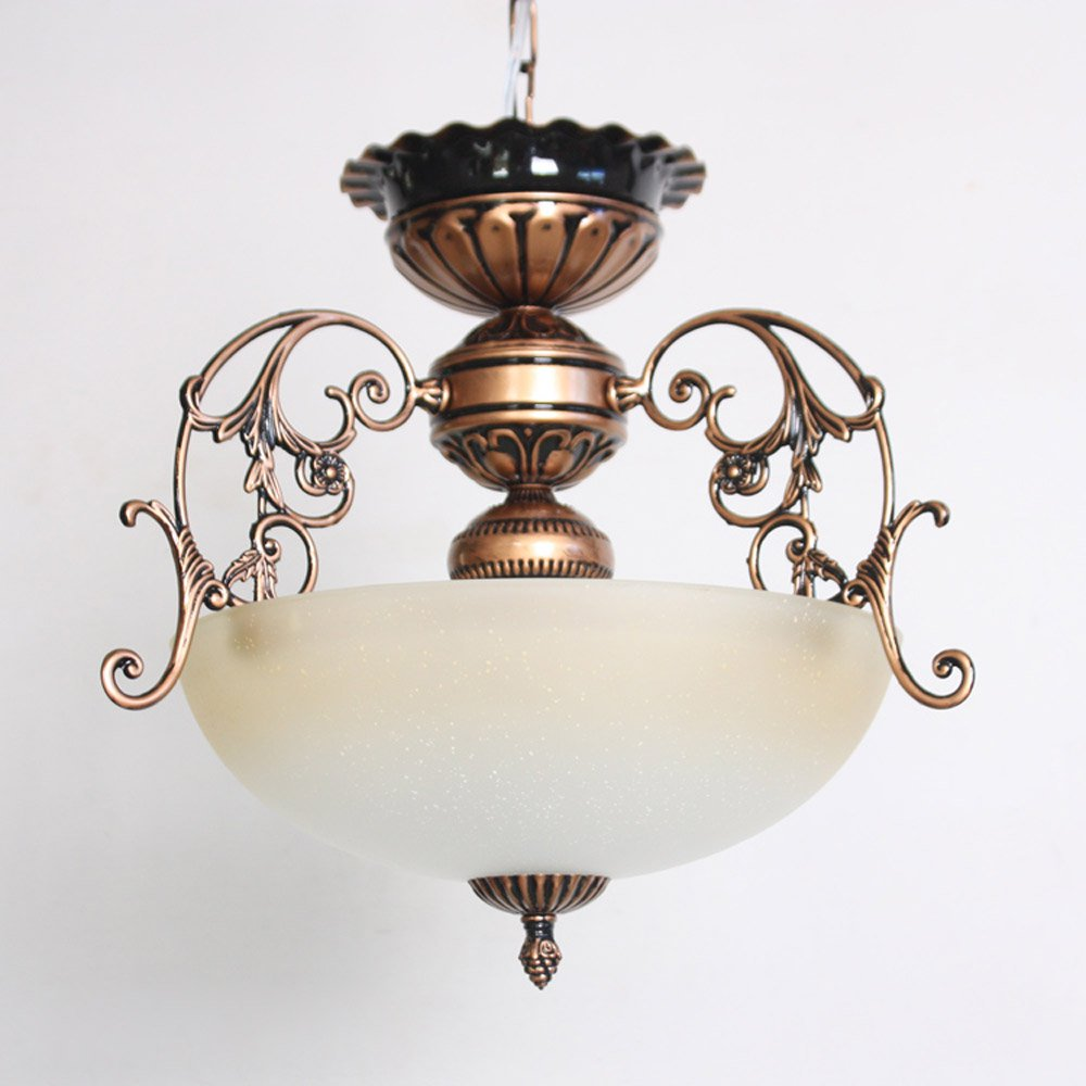 Vintage europe bronze hallway pendant lamp retro glass balcony storage hanging lighting fixtures living room pendant lamp in pendant lights from lights