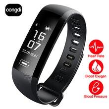 CONGDI R5MAX 0.96 экран смарт-Фитнес-браслет дисплей прогноз Погоды 50 слово кровяное давление пульс монитор кислорода в Крови