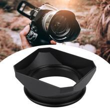 Kamera Lens Hood aksesuarı aynasız kameralar dijital Video kamera Lens filtre Dslr Lens Hood tutucu 55mm 58mm isteğe bağlı