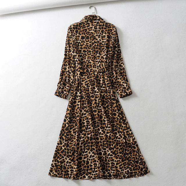 Leopard Print Maxi Dress - The French 95 Swiss online shop