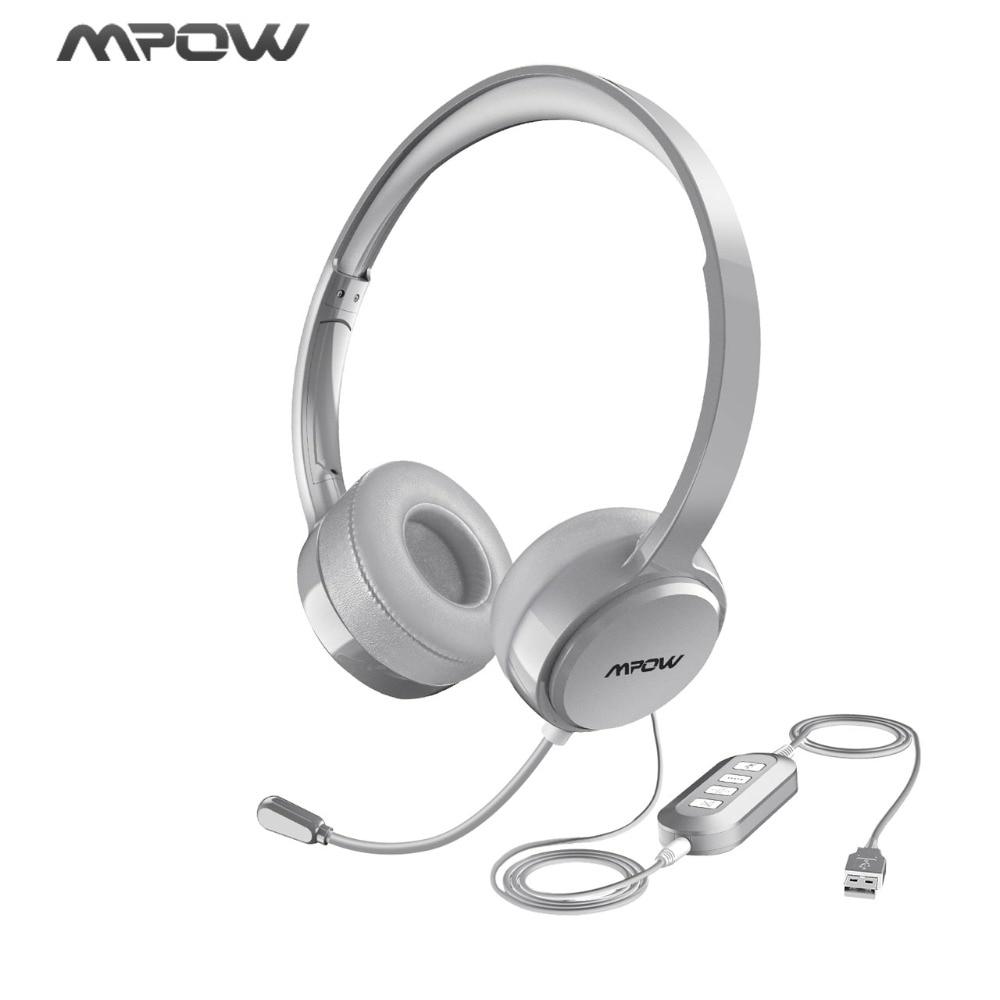Unterhaltungselektronik Mpow Verdrahtete Kopfhörer Usb/3,5mm Stecker Noise Reduktion Flexiable Mikrofon Headset Für Skype Call-center Spiel Windows 10 Mac Pc Kopfhörer/headset