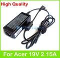 40 W 19 V 2.15A AC adaptador de alimentação para Acer Aspire E1-470 E1-472 E15 toque E1-510 E1-522 E1-530 E1-532 E1-570 carregador