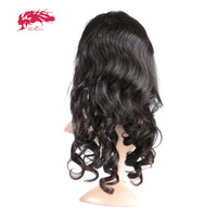 Ali Queen Hair Products Loose Wave Virgin Brazilian Hair Natural Color 18~22 inch 130% Density Full Lace Human Hair Wigs