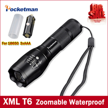 Высокий яркий E17 3800 люменов CREE xm-l T6 светодиодный фонарик 5-режим Масштабируемые linternas светодиодный фонарик на 1*18650 или 3 * AAA Бесплатная доставка
