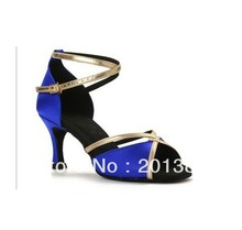 New Women Blue Satin Ballroom Latin Samba Salsa Ceroc Tango Dance Shoes Size 4,4.5,5,5.5,6,6.5,7,7.5,8,8.5,9,9.5,10