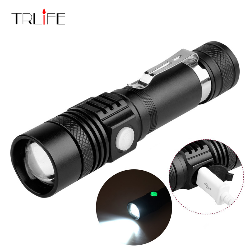 USB Rechargeable LED Flashlight Waterproof 4800LM Cree XML-T6 LED Flash Light 3Modes Hand Torch Lamp Lantern 18650 Battery powerful led flashlight 1603 38 cree xm l2 xml t6 lantern rechargeable torch zoomable waterproof 18650 battery lamp hand light page 5