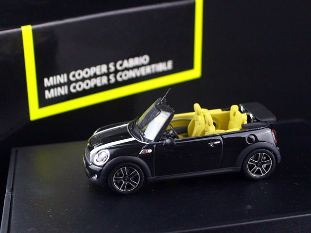 1/43 MINI COOPER S CABRIO CONVERTIBLE Midnight Black R57 2009 MINICHAMPS