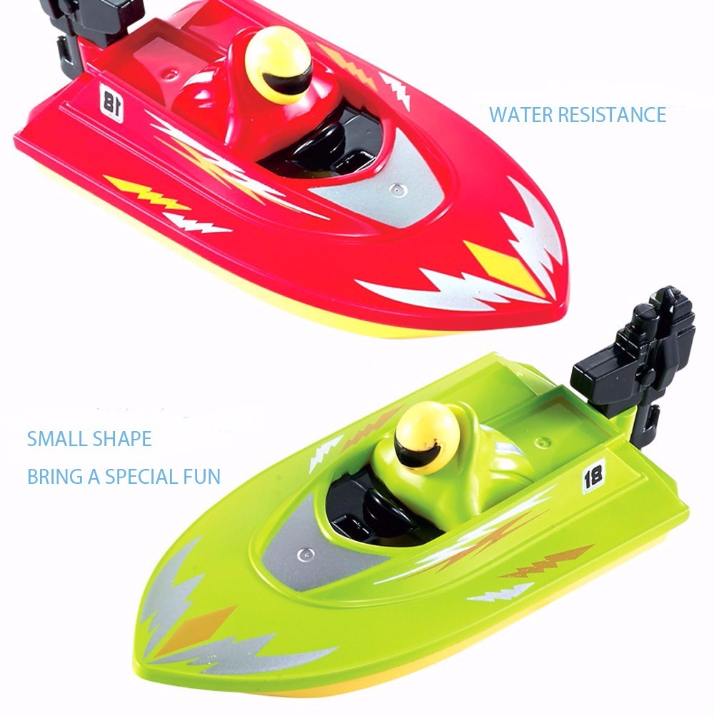 RC Boat Outdoor Children Toys Radio Control RC 2 Channels Waterproof Mini Electric Boats (7)