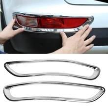 1Pair Silver Chrome Car Auto Rear Fog Light Lamp Cover Trim Frame for Kia Sportage KX5 QL 2015 2016 2017 2018 Car Accessories